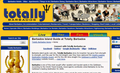 Fresh new website design for Totally Barbados