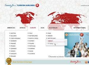 Turkish Airlines' corporate website redesigned