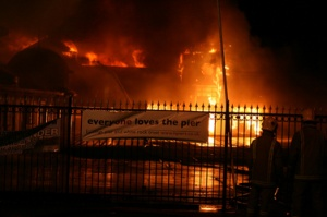 Hastings Pier destroyed by fire