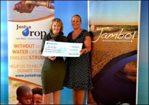 Kenya Tourist Board presents cheque to Just a Drop