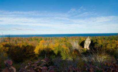 October rocks on Mackinac Island