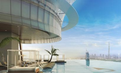 Palm Tower nears completion on Palm Jumeirah, Dubai
