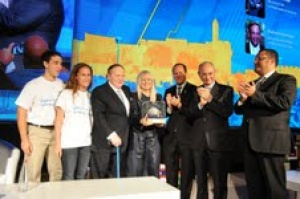 Sheldon Adelson honoured at Jerusalem Summit