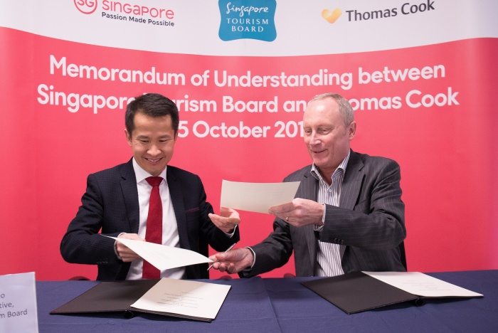 Singapore Tourism Board signs partnership with Thomas Cook Group