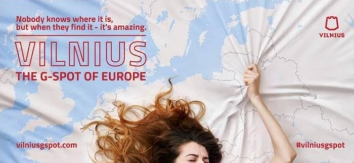 Lithuanian capital Vilnius launches risqué new ad campaign