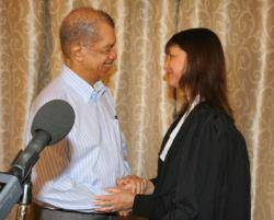 Seychelles: Justice Mathilda Twomey sworn into office