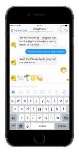 Cheapflights launches Facebook Messenger chat service