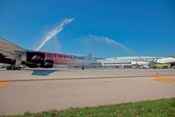 Etihad Chicago service takes off