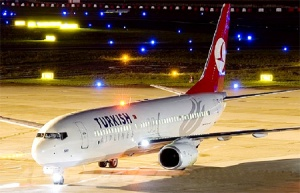Turkish Airlines' net profit for the year 2010 - 191 million USD