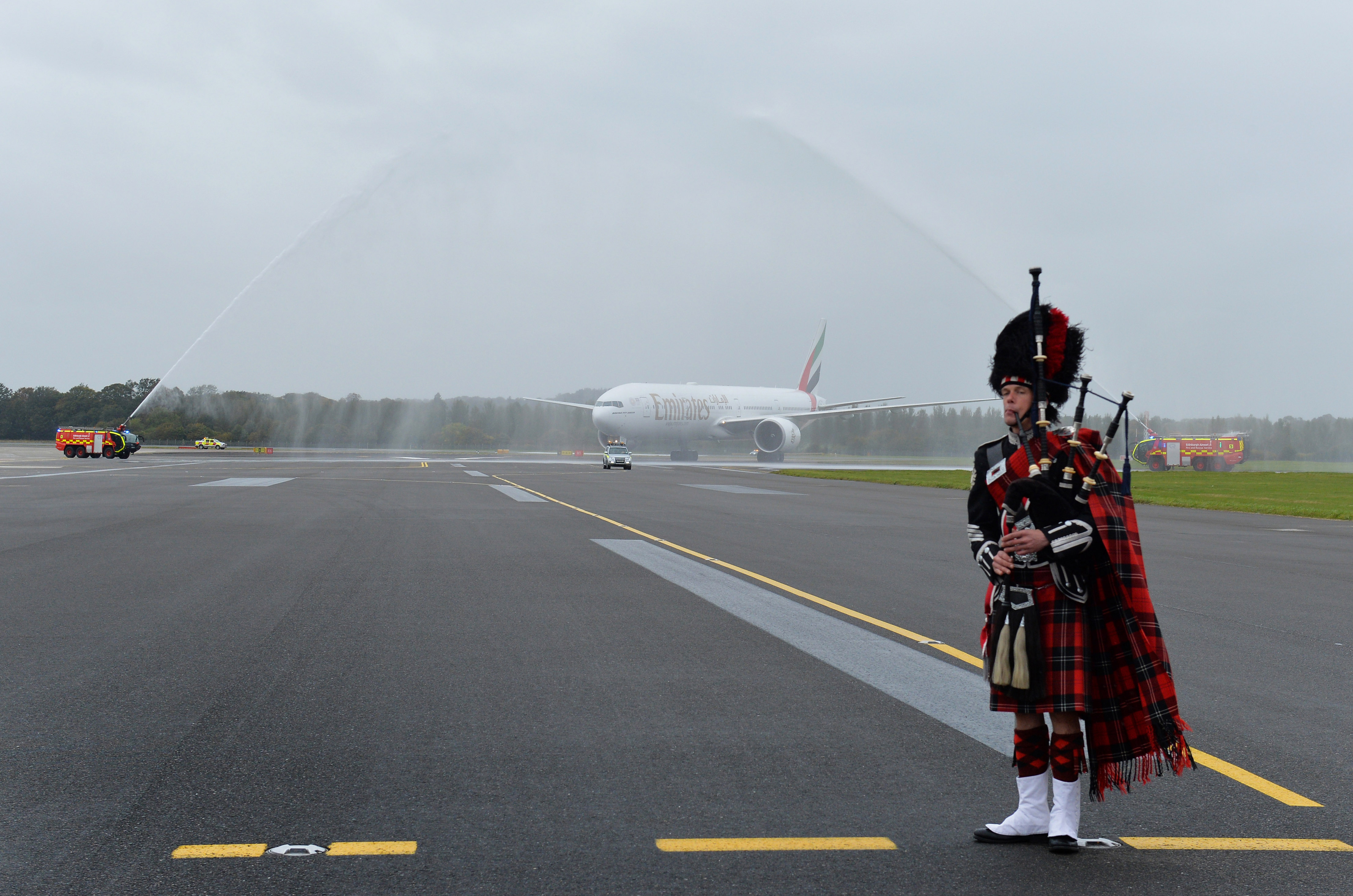 Emirates touches down in Edinburgh, Scotland, for first time