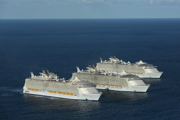 Worlds Three Largest Cruise Ships Sail Together For First Time - Cruise ships from india