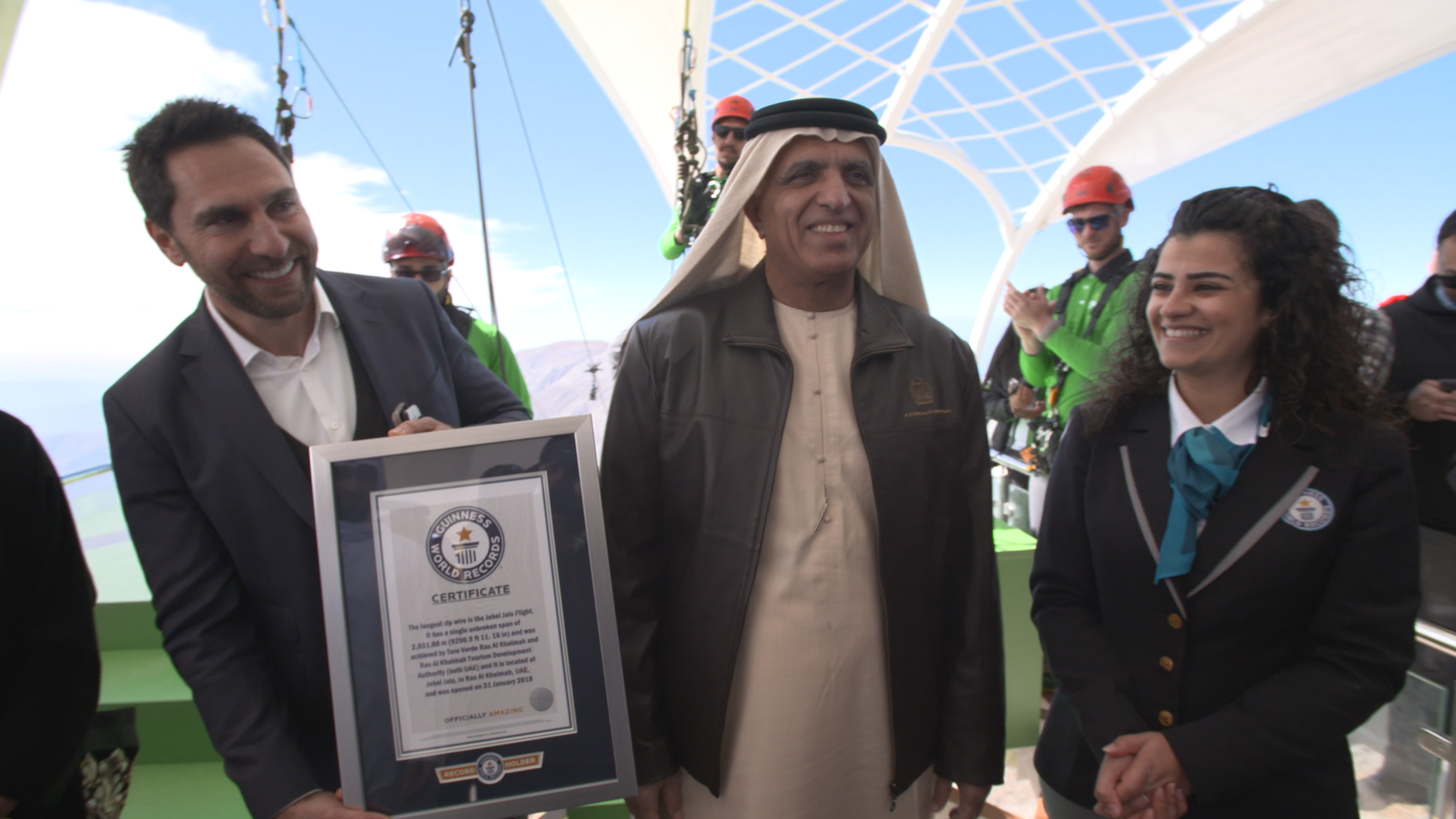UAE claims world's longest zipline